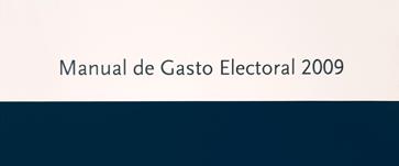 Manual de gasto electoral – 2009