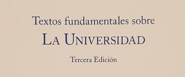 Textos fundamentales sobre la Universidad