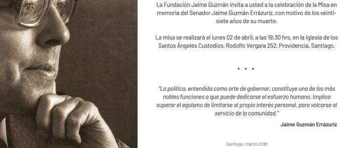 Invitación Misa en memoria del Senador Jaime Guzmán E.