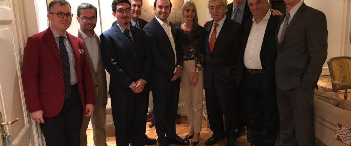 Claudio Arqueros asiste a cena en honor a Vice Presidente de la legislatura Argentina