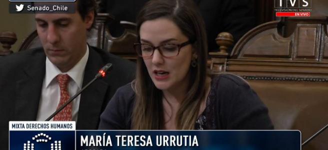 María Teresa Urrutia expuso en comisión de Ley de Identidad de Género