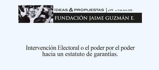 Intervención Electoral o el poder por el poder hacia un estatuto de garantías