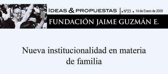 Nueva institucionalidad en materia de familia