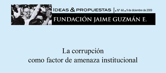 La corrupción como factor de amenaza constitucional