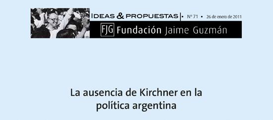 La ausencia de Kirchner en la política argentina