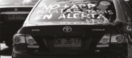 Conflicto: taxi vs. Uber