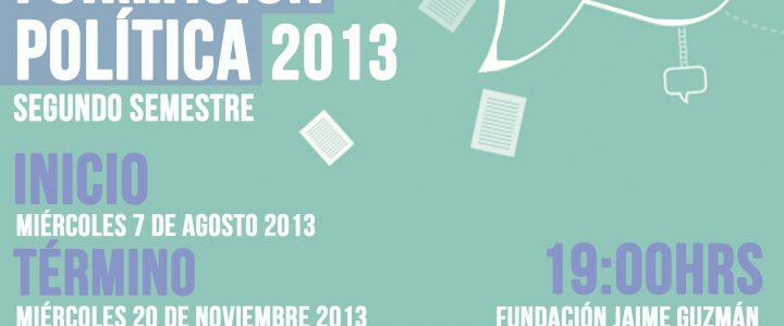 Curso de Formación Política 2013: cupos abiertos