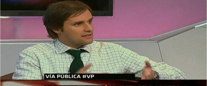 Jaime Bellolio, debate acerca del movimiento estudiantil en Vía Pública, TVN 24 horas