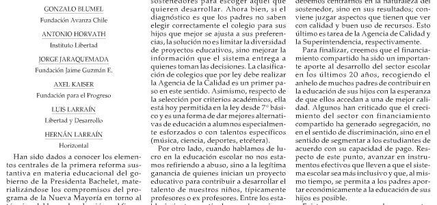 Reforma educacional de Bachelet: Menos libertad, menos justicia