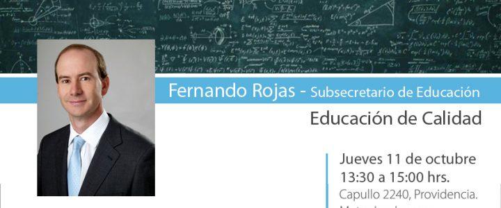 Almorzando con el Subsecretario de Educación Fernando Rojas