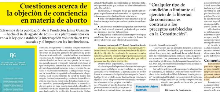 Ideas & Propuestas sobre objeción de conciencia y aborto en La Segunda