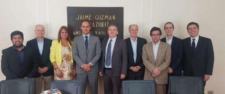 FJG junto a otros centros de estudio se reúne con Eduardo Bolsonaro