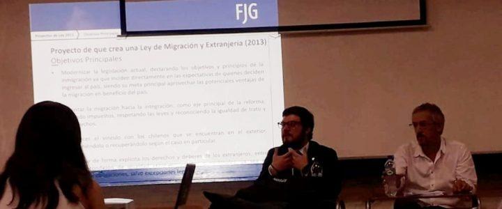 Hernán Valenzuela expuso sobre Ley de Migración en USACH
