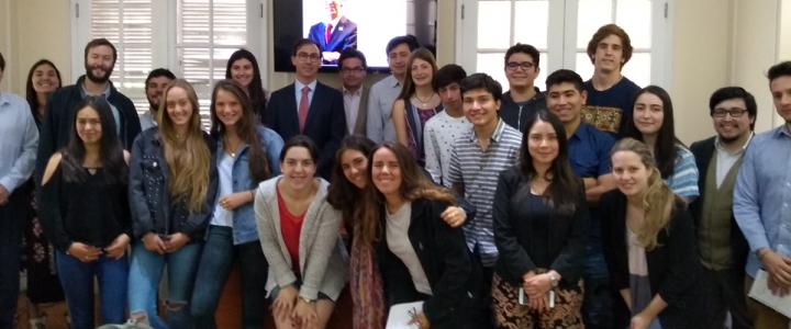 """Subsecretario de Educación visitó FJG para hablar sobre """"Aula Segura"""""""