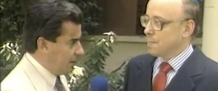 Entrevista a Jaime Guzmán tras ganar senatorial