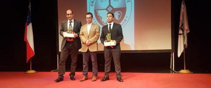 Claudio Arqueros entrega premio Jaime Guzmán en Universidad Finis Terrae