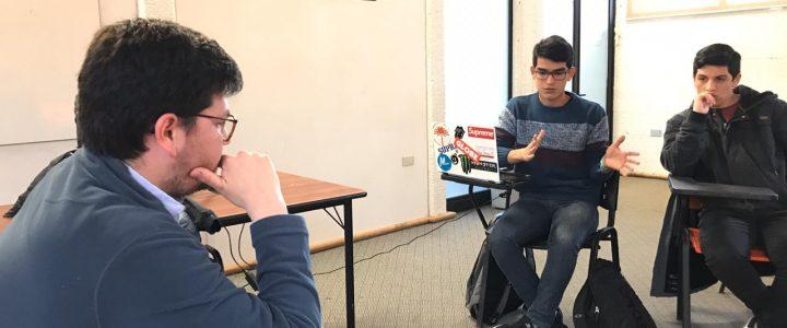 Emiliano García estuvo Temuco y Valdivia en taller de formación para jóvenes universitarios