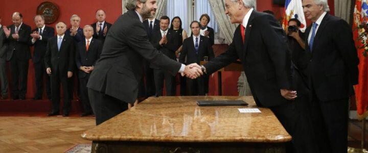 Saludamos a las nuevas autoridades del Gabinete del Presidente Piñera