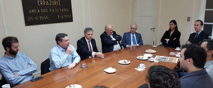 Senador Juan Antonio Coloma visitó la Fundación Jaime Guzmán