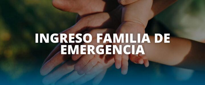 IFE: dignidad y emergencia