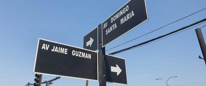 Cambio de nombre a Avda. Jaime Guzmán
