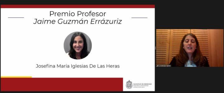 Felicitamos a la ganadora del premio Jaime Guzmán en la UC