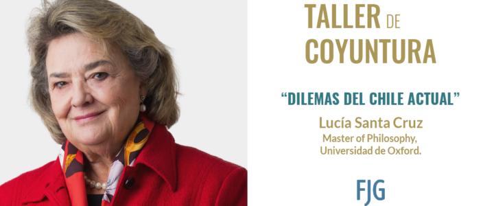 Lucia Santa Cruz protagoniza charla sobre coyuntura nacional