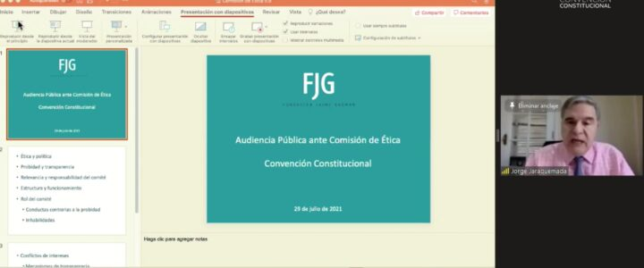 Jorge Jaraquemada expuso en Comisión de ética de la Convención Constitucional